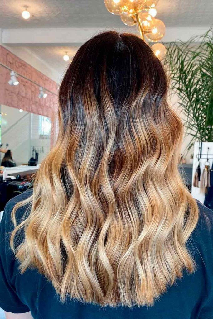 Black To Gold Blonde Ombre