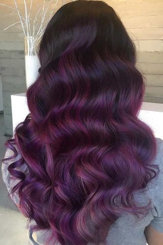 Violet Long Layers