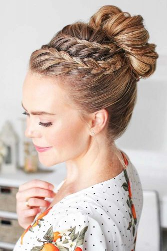 So Sweet Braided Buns Waterfall #braids #bun #updo