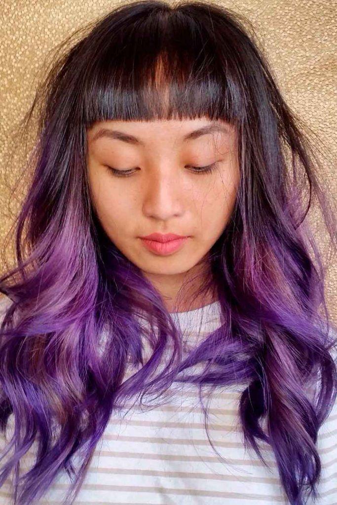 Lilac Hair Color Balayage