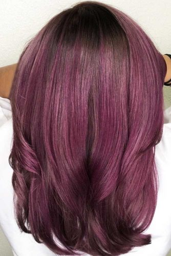 Chocolate Lilac With Brunette Roots #purplehair #brunette