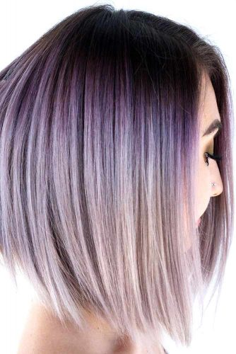 Lilac Ombre Hair #lilachair #purplehair #ombre