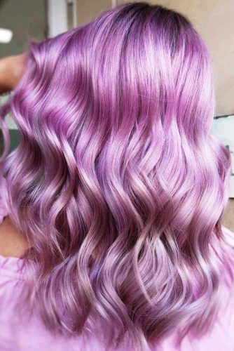Simple Lilac Hair Color #lilachair #pinkhair