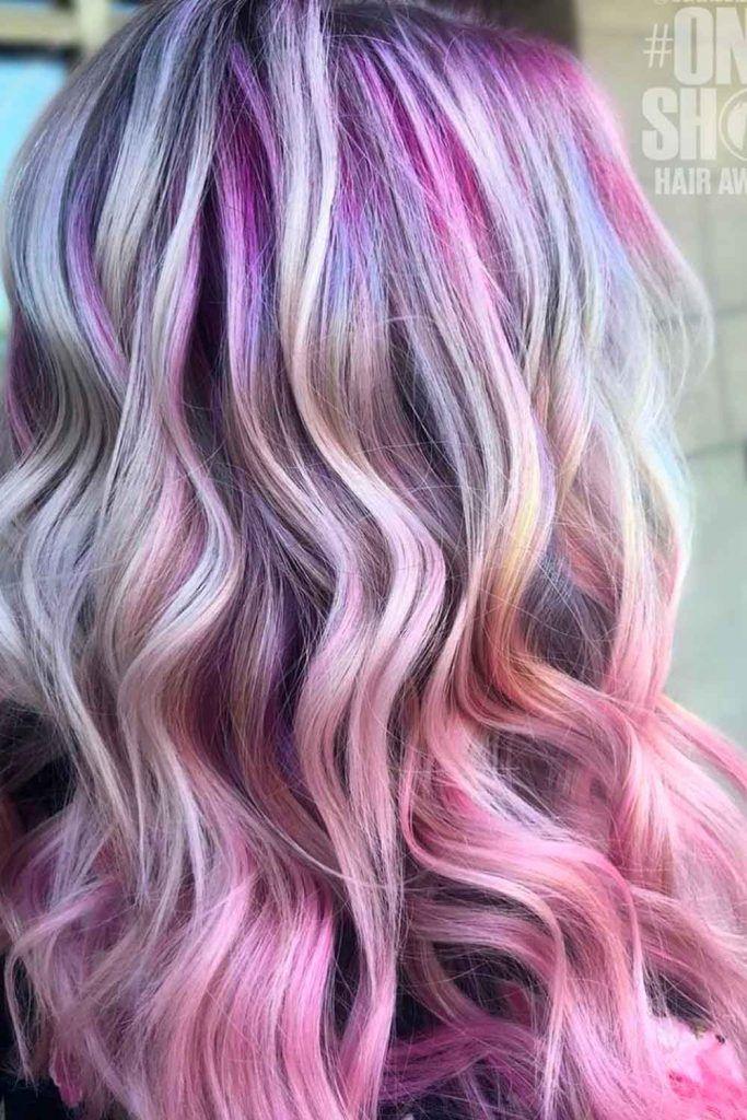 Pastel Lilac Hair Rainbow