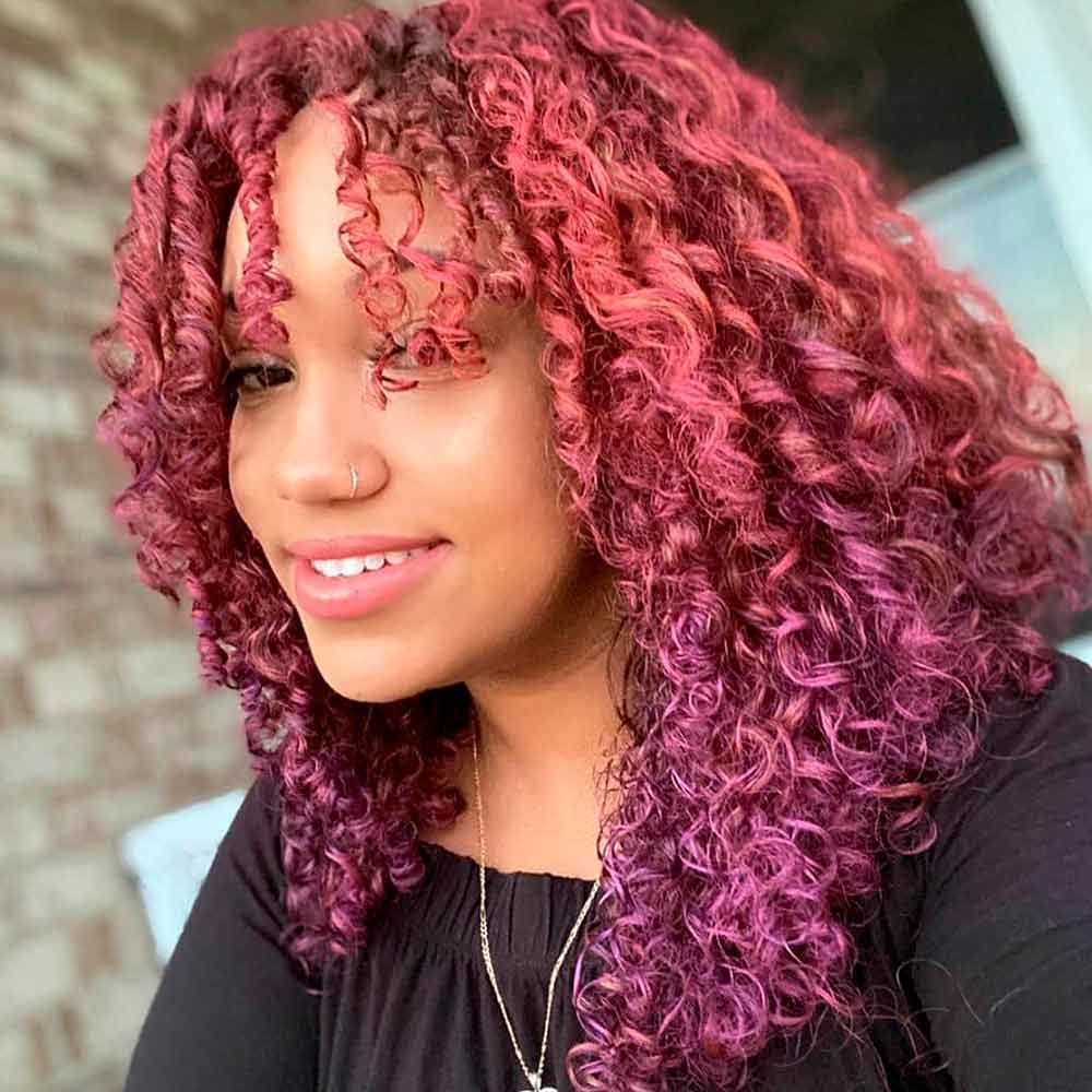 Chocolate Lilac To Rose Gold Ombre