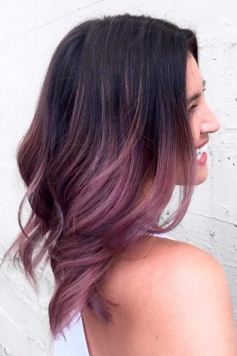 Shoulder Lenght Hair in Chocolate Lilac Color picture3