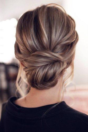 Elegant Chignon Bun #homecominghairstyles #homecoming #hairstyles #chignon #bunhairstyles
