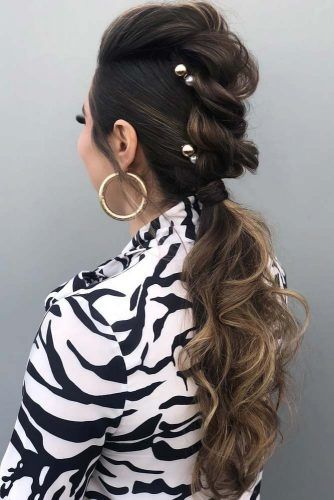 Low Twisted Pony #homecominghairstyles