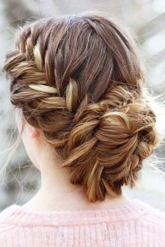 Cute Fishtail Braided Updo picture 3