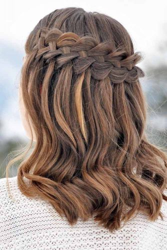 Waterfall Braids for Brown-Haired Girls picture 3