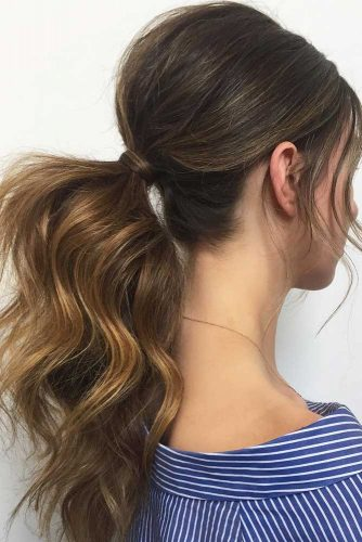 Trendy Messy Low Ponytails picture 1