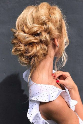 Braids Into Low Bun Updos Dutch #updo #braids #bun