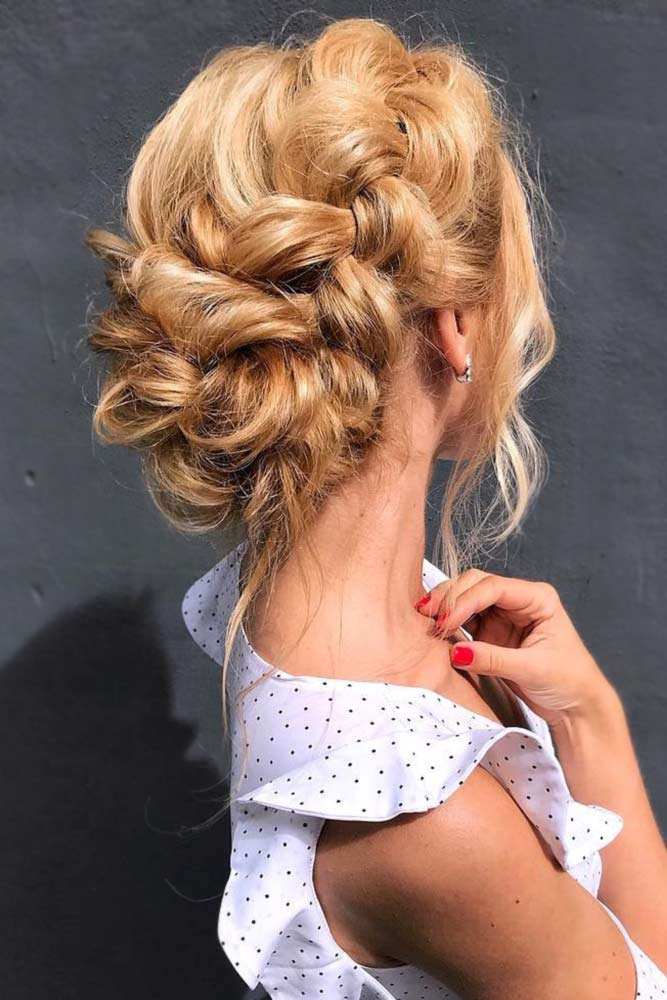 Braids Into Low Bun Updos Dutch #updo #braids #bun