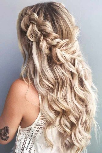 Braided Half-Up Dutch #half-up #braids