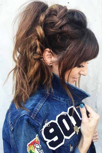 Cool Braided Ponytails Dutch #braids #ponytail