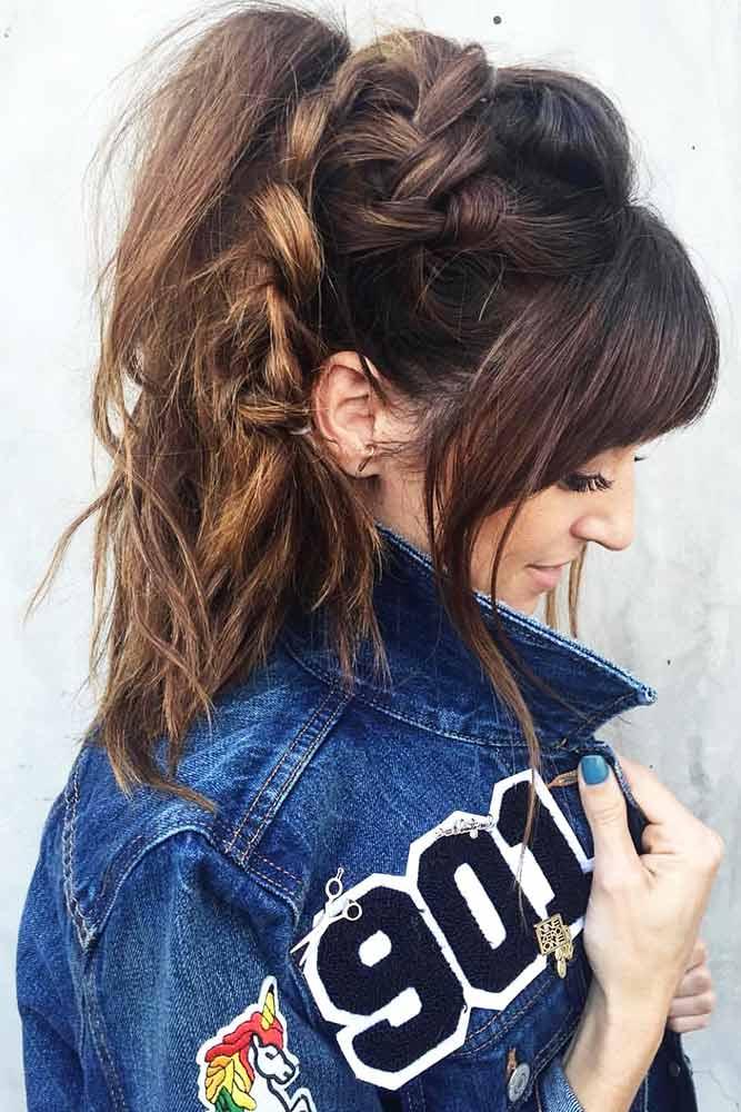Cool Braided Ponytails Dutch #braids #ponytail
