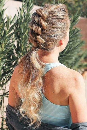 Fauxhawk Ponytails #ponytail #longhair #braids