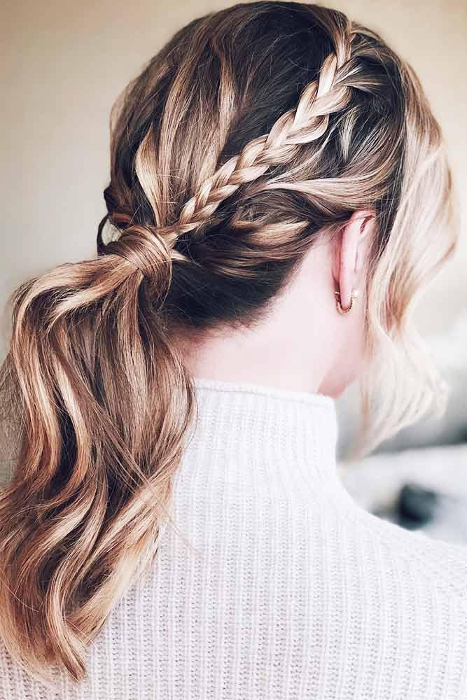 Trendy Messy Low Ponytails Braid #braids #ponytail
