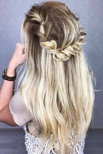 Braided Half-Up Crown Twist #half-up #braids