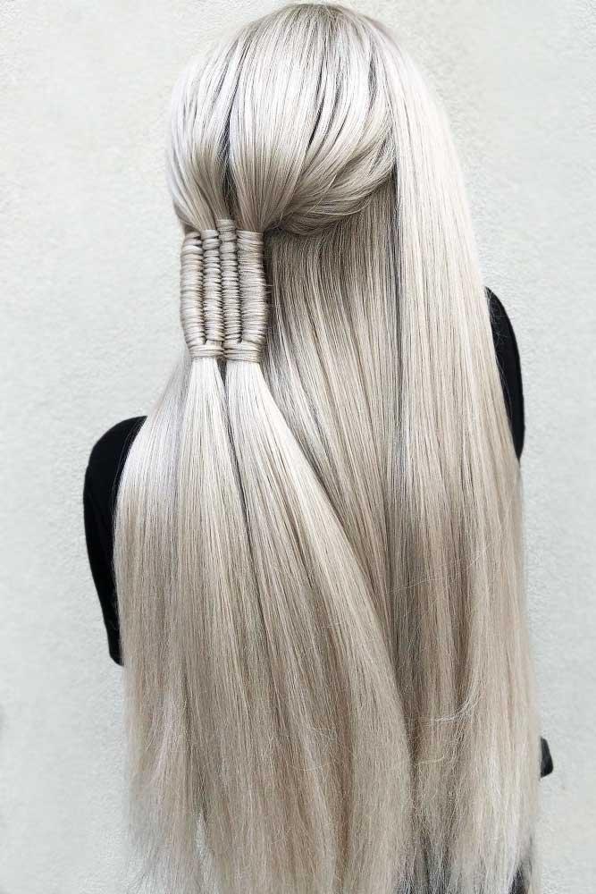 Hairstyles Ideas With Infinity Braids Half-Up #braids #halfup