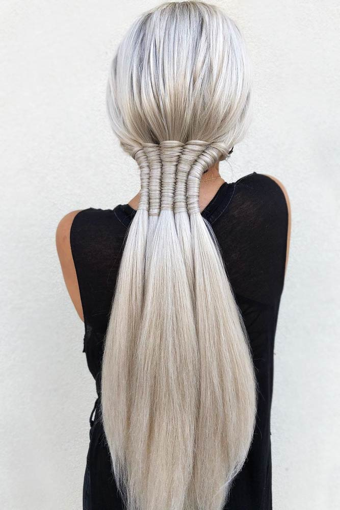 Hairstyles Ideas With Infinity Braids Low Pony #braids #ponytail