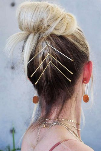 Hairstyles With Pins Knot #updo #knot #pins