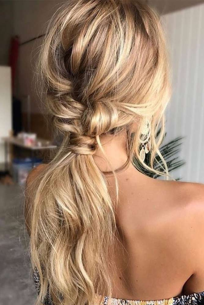 Trendy Messy Low Ponytails picture 2