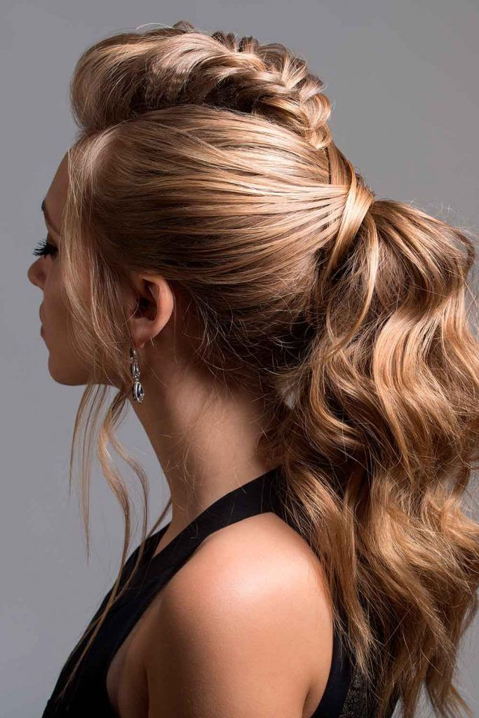 Chic Fauxhawk Ponytail #ponytail #longhairstyles