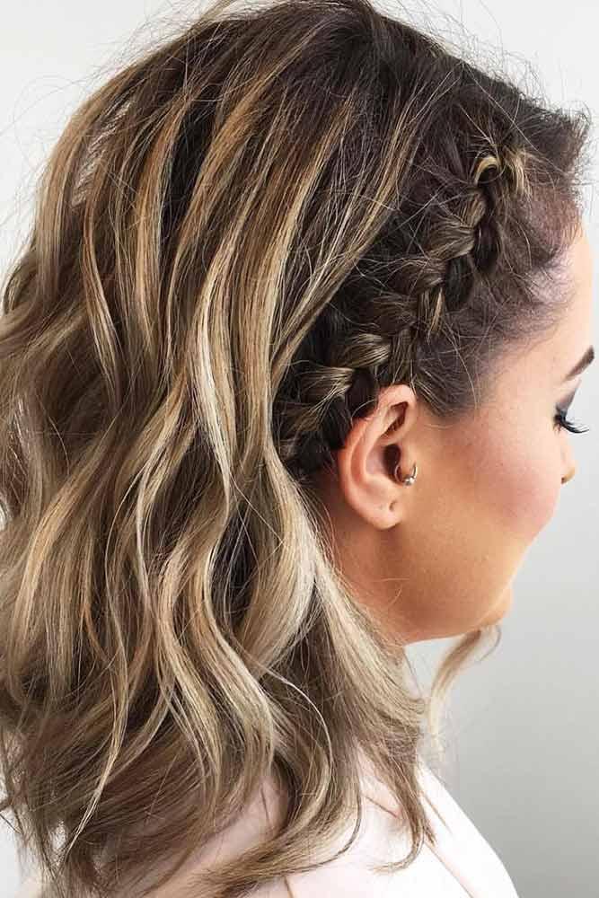 Side Cornrow Braids Wavy #braids