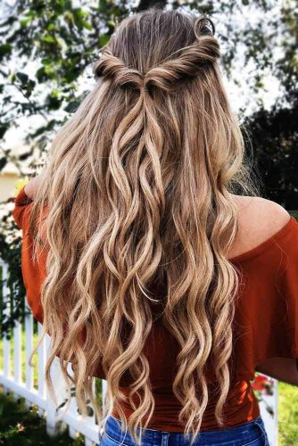 Braided Half-Up Twist #half-up #braids