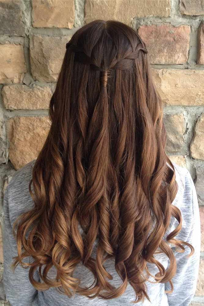 Waterfall Braids for Brown-Haired Girls picture 1