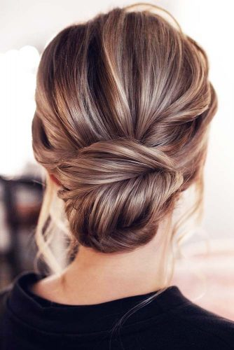 Messy Wrapped Bun Updos #updo #bun