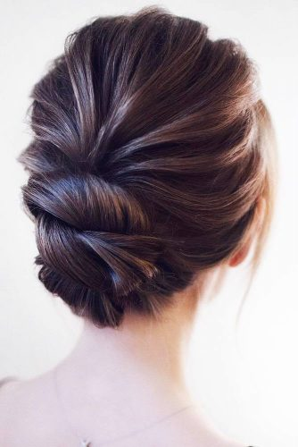Low Wrapped Bun Updos #updo #bun