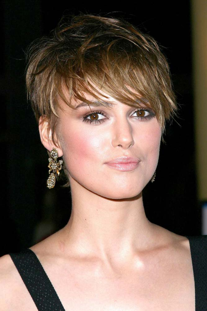 Keira Knightleys Choppy Ends #longpixie #pixiecut #haircuts