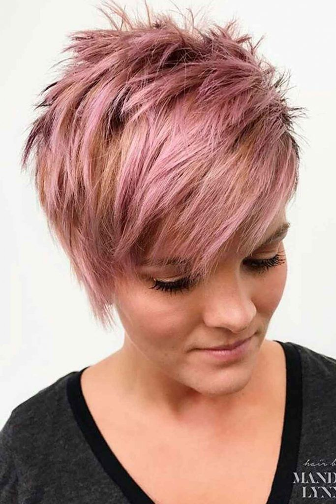 Coral Messy Pixie #colralhair #pinkhair