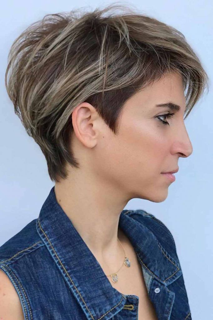 Long Layered Pixie Cut #layeredhair #hairhighlights