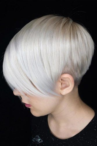 Ice Colored Side Pixie Cut #pixiecut #haircuts #longpixie #shorthair