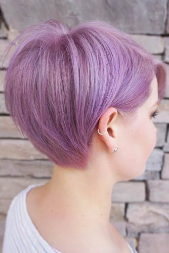 Pixie Cut For Thick Hair #lavenderhair #shortbob #longpixie