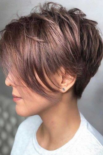 Texture Layers And Side Bangs #pixiecut #longpixie #layeredpixie