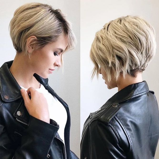 Messy Asymmetrical Long Pixie Haircut #pixiecut #haircuts #longpixie #shorthair