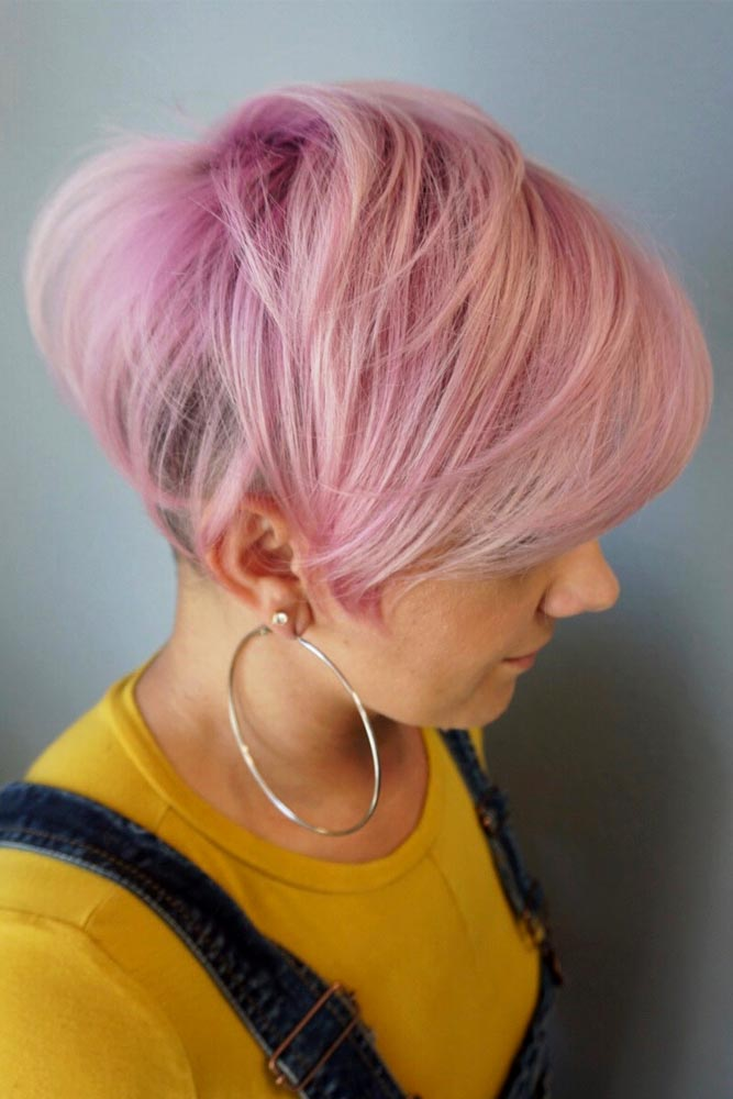 Long Pixie With Shaved Back #pixiecut #haircuts #longpixie #shorthair