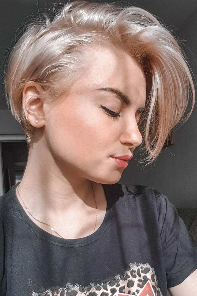 Cute Long Side Pixie Cut #pixiecut #haircuts #longpixie #shorthair