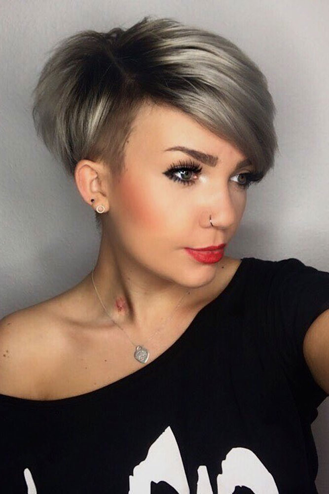 Cute Long Side Pixie Cut picture3