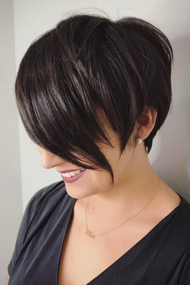 Asymmetrical Pixie Cut With Long Bangs #pixiecut #haircuts #longpixie #shorthair