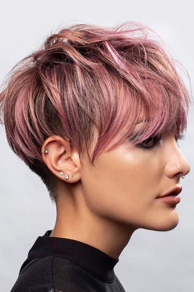 Messy Long Shaved Pixie #pixiecut #haircuts #longpixie #shorthair