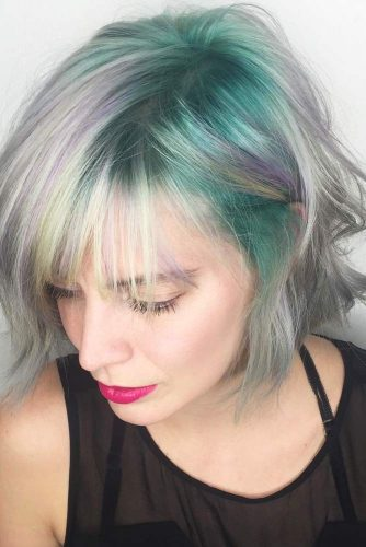 Hairstyle for Medium Hair with Crazy Bangs