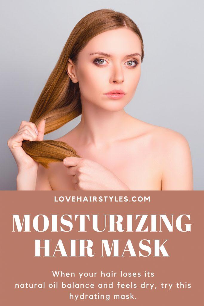 Moisturizing Hair Mask with Honey, Egg & Apple Cider Vinegar
