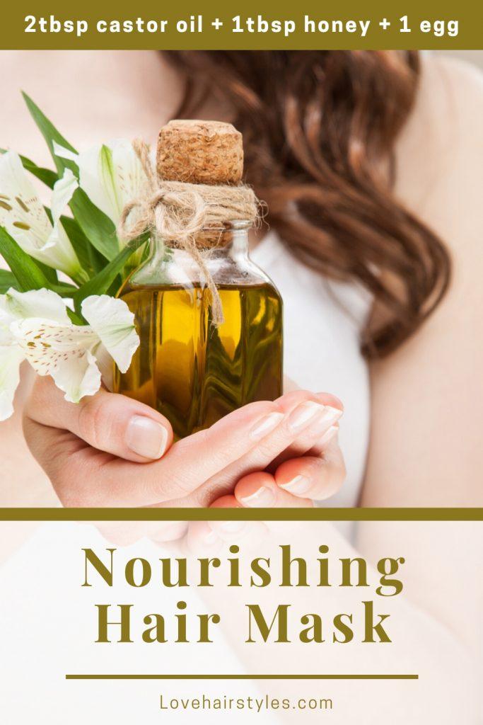 Nourishing Mask with Castor Oil, Honey & Egg