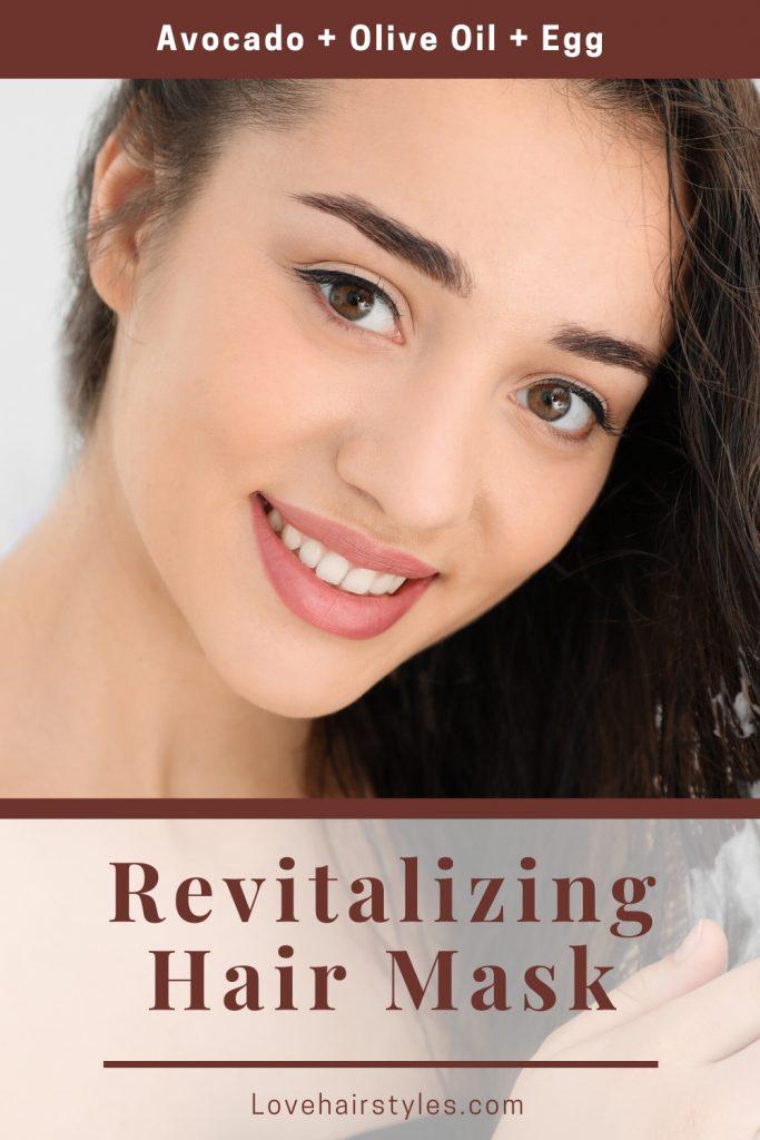 Revitalizing Mask with Avocado, Olive Oil & Egg