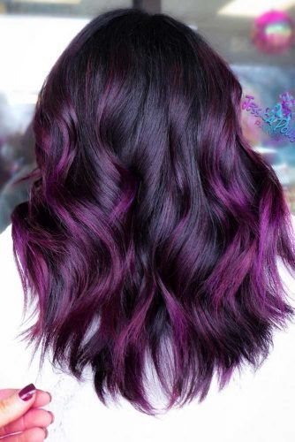 Purple Balayage #brunette #purplehair